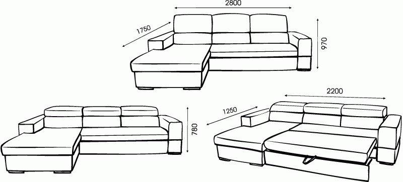 чертижи мебели для гостиной