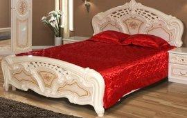 Двуспальная кровать 2-сп (без матраса. ламель) Кармен