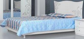 Двуспальная кровать 2-сп (без матраса. ламель) Фелиция