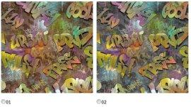 Габардин Канзас Граффити (Kansas Graffiti) ширина 140см