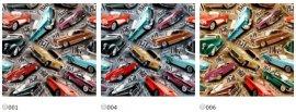 Габардин Рэтро карс (Retro cars) ширина 140см