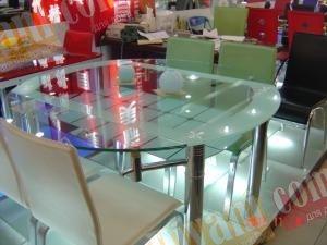 Стол стеклянный T04 - диаметр 140см