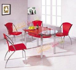 Стол стеклянный BM-012 - красный