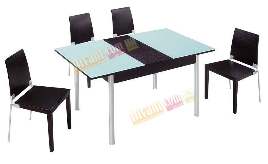 Стол стеклянный D175