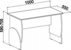 Стол кромка клен МДМ-10 Маугли 3D