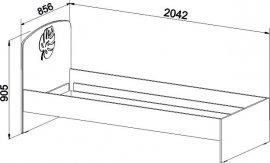 Кровать с объемным узором МДМ-11 Маугли 3D