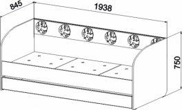 Кровать с объемным узором и ящиком МДМ-12 Маугли 3D