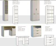 Шкаф платяной 2Д 1Ш Маттео