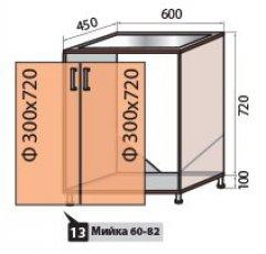 Модуль №13 м 600-820 низ кухни
