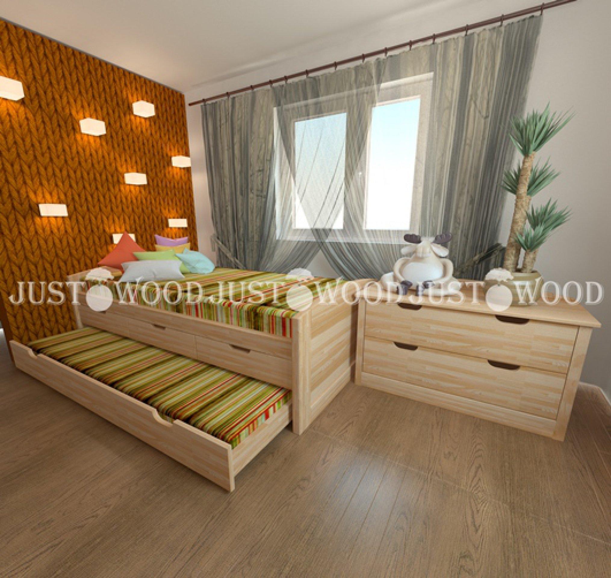 Детская кровать Капитошка 2 спаРьных места 90х190 см