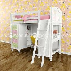 Детская кровать-чердак Гуффи (комплект мебели)