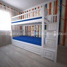 Детская двухъярусная кровать Простоквашино +
