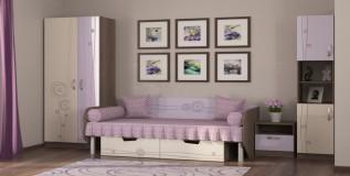 Кровать T-L-01/2 с ящиками Троянда