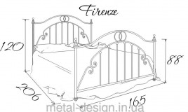 Двуспальная кровать Флоренция - 160х190-200см