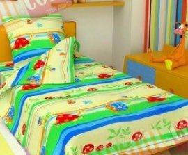 Детский полуторный комплект постельного белья Равлики