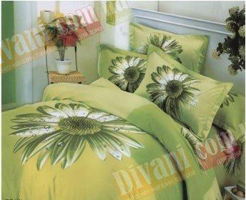Двухспальный комплект постельного белья Сoleen -Ехинацея