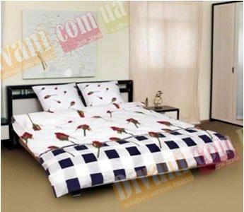 Двухспальный комплект постельного белья Сoleen -594-Бутон комбі