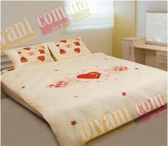 Евро комплект постельного белья Сoleen -624-Валентинка