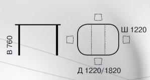 Стол раскладной 4872-SWC Green Line