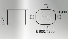 Стол раскладной DM-T4EX2 Green Line