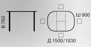 Стол раскладной DM-T6EX2 Green Line