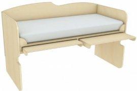 Кровать чердак с выдвижными столами КЧС 1-92 Планета Луна