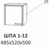 Антресоль к шкафу-гардеробу ШПА 1-12/1-121/ШПА 2-12/2-121 Планета Луна