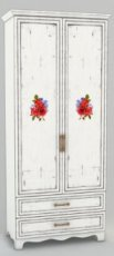 Шкаф книжный ШК 4-132 Прованс в стиле Шебби Шик