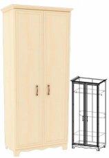 Шкаф-гардероб ШГ 4-2/1 (базовая комплектация) Прованс
