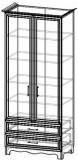 Шкаф книжный ШК 5-132 (улучшенная комплектация) Прованс