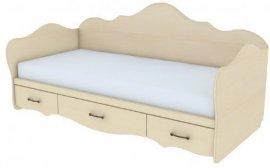 Кровать односпальная без накладок К 4-1 (б/накл) Прованс