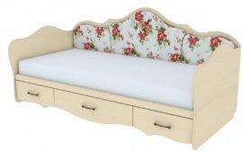 Кровать односпальная с накладками К 5-1 Прованс