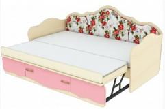Кровать с выдвижным увеличением спального места К 4-7 Прованс