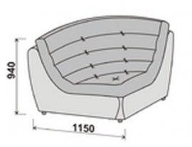 Модуль углового дивана Инфинити корона