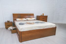 Кровать Марита Люкс с ящиками 120х190-200см