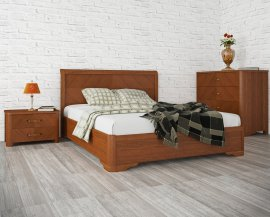 Кровать Милена с интарсией - 200х200см