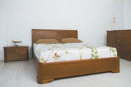 Кровать Милена с интарсией (подъемный механизм) - 120х190-200см
