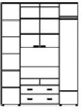 Шкаф-купе ШТВ-1 (2100-2700х450(600)х2400)