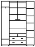 Шкаф-купе ШТВ-2 (2200х450х2400)