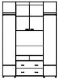 Шкаф-купе ШТВ-4 (2100-2700х450(600)х2200)