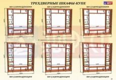 Шкаф-купе 3-х дверный ШК-5 Эверест 2300*450(600)*2400