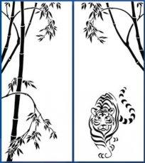 Фасад с пескоструйной обработкой к шкафу-купе БШК-16/22-БШК-21/22 Мебель-сич