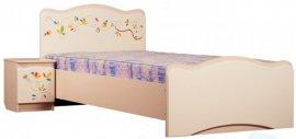 Односпальная кровать Цветы жизни (без ящика)