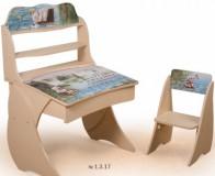 Парта Умник со стульчиком Фотопечать+ надстройка