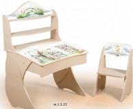 Парта Умница со стульчиком Фотопечать + надстройка