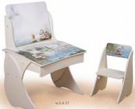 Парта Умник со стульчиком Фотопечать + мольберт