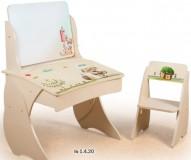 Парта Умница со стульчиком Фотопечать + мольберт