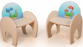 Игровой столик Аквариум +2 стульчика Фотопечать