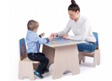 Игровой столик 3 игры +2 стульчика