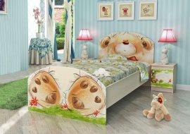 Кровать  Мишка с букетом